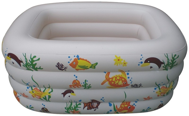 4 Rings Baby Swim Pool Rectangle Sea Fish 4 Ring Kiddie Swimming Pools Inflatable 4 rings queen swim pool