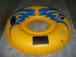 Professional PVC inflatable ski tube with one hand and one cup holder