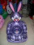 PVC Inflatable Crystal Rabbit Sofas/Chairs for Kids