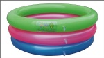 Kids PVC inflatable 3-ring colorful pool Small inflatable water pools