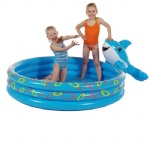 inflatable PVC dolphin swimming pool for baby/kids