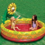 Inflatable swimming plants play center pool with sprayer, animal play spray pool , kids play spray pool
