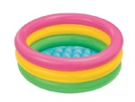 New style kids 3 rings swimming pool inflatable swimming pool with Bubble bottom