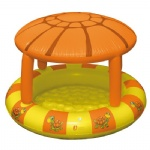 Mushroom PVC inflatable baby wading swimming pool/ Mushroom shape inflatable play ball pit