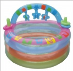 Hot selling Early Learning Baby activity pool, inflatable baby pool with sunshade,inflatable 3 rings baby pools with sunshade