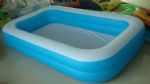 Family use Rectangular PVC inflatable swim pool Big Inflatable Swim Center Family Pool