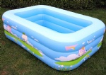 Inflatable square swimming pool,rectangle three layers swim pools,designed for both children and adult