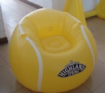 Inflatable Tennis sofa with can holder