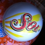 Inflatable SOL beach balls for promotional