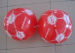 PVC Inflatable Cocacola soccer beach balls for promotional