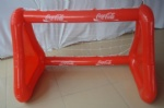 PVC inflatable Cocacola soccer goal for advertising